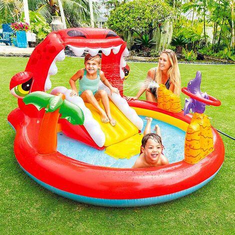 piscina hinchable infantil con tobogan